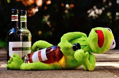 wine and kermit